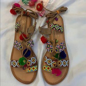 Chinese Laundry Posh Pom Pom Sandal